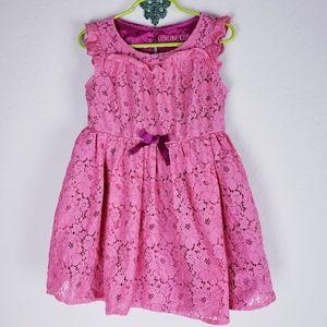 Genuine kids floral lace dress 5t